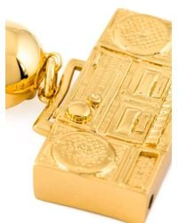 Moschino - Metallic Boombox Clip-on Earrings - Lyst