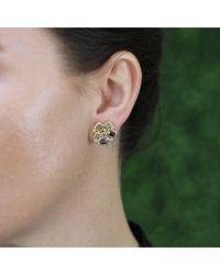 Todd Reed - Metallic Diamond Cluster Stud Earrings - Lyst