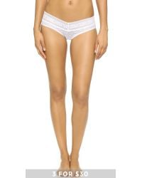 Calvin Klein | White Stretch Lace Hipster | Lyst