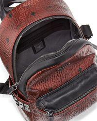 MCM - Brown Stark Side Stud Mini Backpack - Lyst