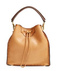 Frye | Brown 'bianca' Leather Hobo | Lyst