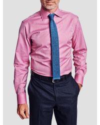 Thomas Pink Pink Gibson Slim Fit Stripe Shirt for men