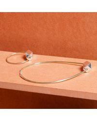Paul Smith - Metallic Women's Silver Bracelet With Gold Facet Bead - Lyst