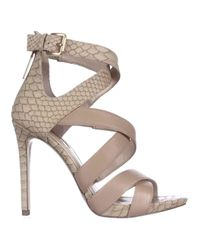 Guess Natural Abby Strappy Heels Dress Sandals