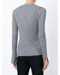 Alexander Wang - Gray V-neck Cardigan - Lyst