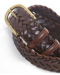 Elliot Rhodes Brown Handweave Belt for men