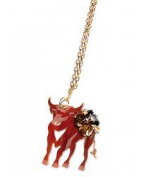 Matthew Williamson   Metallic Taurus Pendant Necklace   Lyst
