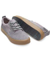 TOMS - Gray Frost Grey Suede/cotton Twill Men's Valdez for Men - Lyst