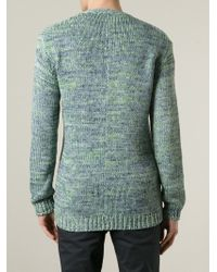 Julien David - Green Knit Cardigan for Men - Lyst
