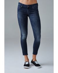 Forever 21   Blue Low-rise Skinny Ankle Jeans   Lyst