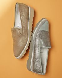 Donald J Pliner Gray Beliz Modern Slip-On Flats