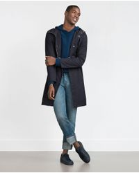 Zara | Blue Cashmere Hooded Sweater for Men | Lyst