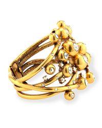 Oscar de la Renta - Metallic Ball & Crystal Hinge Bracelet - Lyst