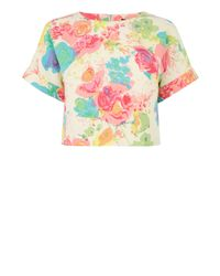 Oasis - Multicolor Fluro Painted Rose Shell - Lyst