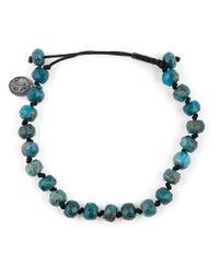 Joseph Brooks | Blue Stone Bead Bracelet for Men | Lyst