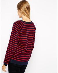 Ganni - Multicolor Striped Logo Jumper - Lyst