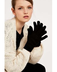 Urban Outfitters - Black Classic Super Soft Gloves - Lyst