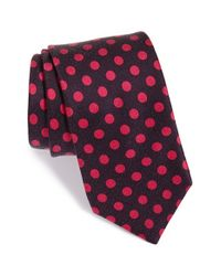 Ted Baker | Purple 'satin Dot' Silk Tie for Men | Lyst