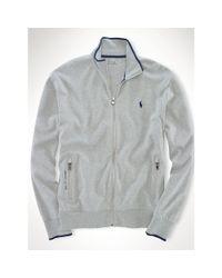 Ralph Lauren - Gray Interlock Full-zip Sweater for Men - Lyst