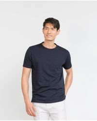 Zara | Blue Short Sleeve T-shirt for Men | Lyst