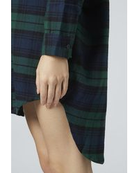 TOPSHOP Green Checked Nightshirt
