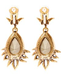 Oscar de la Renta | Pink Crystal-embellished Clip-on Earrings | Lyst