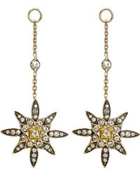Annoushka | Blue Frost 14Kt Yellow-Gold And Sapphire Earring Drop - For Women | Lyst
