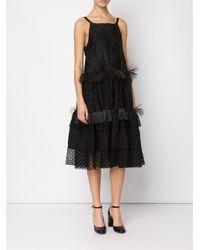 Rochas   Black Woven-silk Dress   Lyst