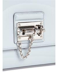 Dolce & Gabbana Blue 'miss Monica' Small Patent Leather Crossbody Bag