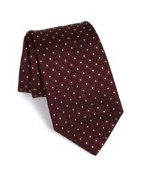 Armani - Red Dot Silk Tie for Men - Lyst