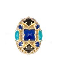 Kendra Scott | Blue Delaney Oval Ring | Lyst