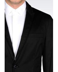 Emporio Armani   Black Runway Jacket In Stretch Cotton for Men   Lyst