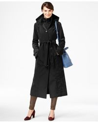 London Fog | Black Layered Maxi Trench Coat | Lyst