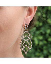 Sylva & Cie - Metallic Granada Diamond Earrings - Lyst