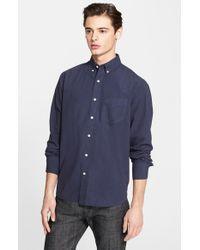 Rag & Bone - Blue Standard Issue Trim Fit Shirt for Men - Lyst