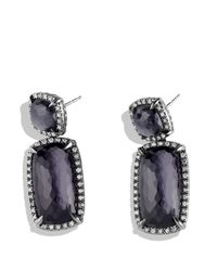 David Yurman | Purple Châtelaine Double Drop Earrings With Black Orchid And Gray Diamonds | Lyst