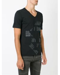 Diesel Black Gold - Black 'taiciy' Print T-shirt for Men - Lyst