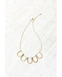 Urban Outfitters - Metallic Traveling Shapes Necklace - Lyst