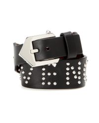 Givenchy | Black Cowboy Embellished Leather Bracelet | Lyst