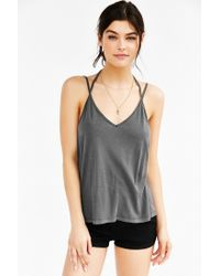 Truly Madly Deeply Gray Double Strap Tank Top
