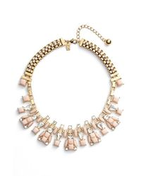 kate spade new york | Pink 'turn Heads' Collar Necklace | Lyst