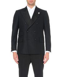 Lardini | Blue Double-breasted Wool Jacket for Men | Lyst