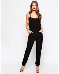 Oh My Love | Black Strappy Jumpsuit | Lyst