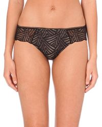 Chantelle - Black Illusion Stretch-lace Tanga Briefs - Lyst