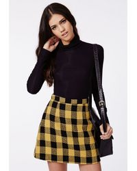 Missguided - Rapalah Long Sleeve Ribbed Turtle Neck Black - Lyst