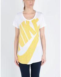 Nike - Yellow T-shirt - Lyst