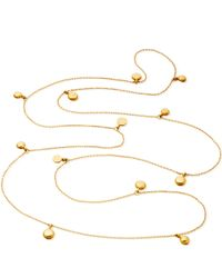Astley Clarke Metallic Long Gold Vermeil Sonatina Disc Necklace