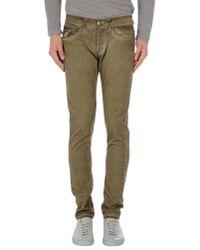 Dondup Green Denim Trousers for men