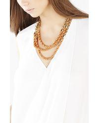 BCBGMAXAZRIA - Orange Twisted Seed Bead Necklace - Lyst