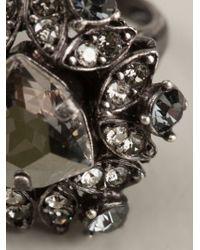 Lanvin | Metallic Embellished Ring | Lyst